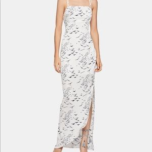 BCBG Asymmetrical Hem Maxi Dress
